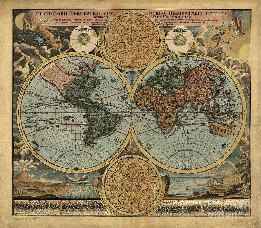 Old antique world map drawing by theodora brown old drawing old antique world map by theodora brown gumiabroncs Images
