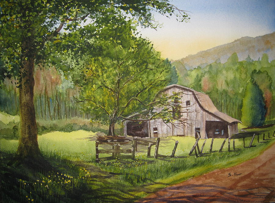 Barn Painting - Old Apple Tree by Shirley Braithwaite Hunt