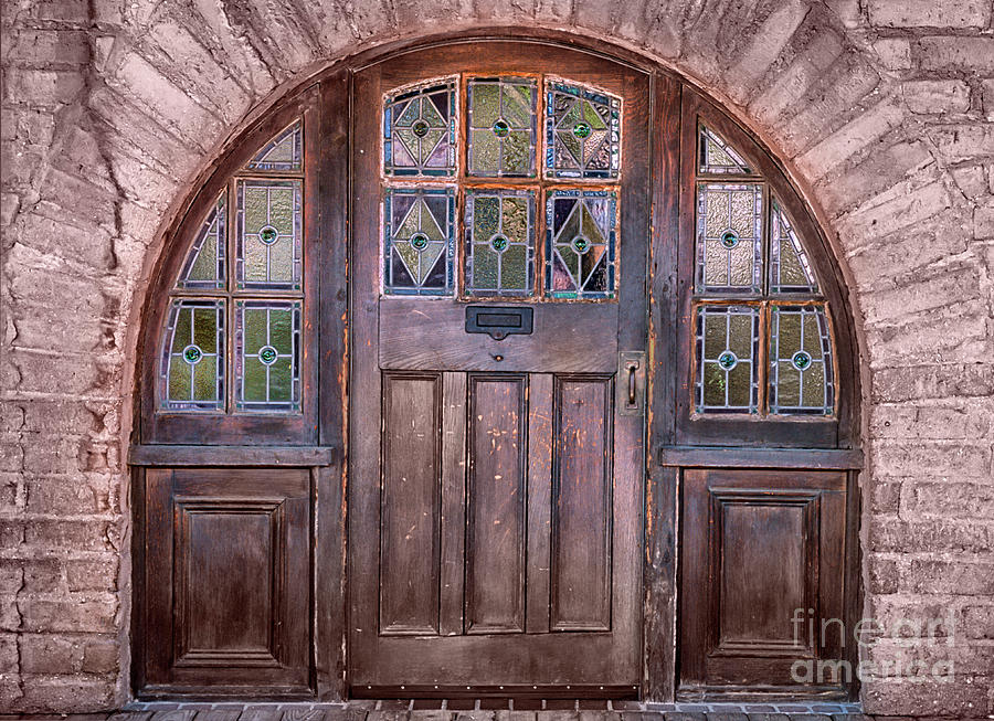 Southwest Photograph - Old Arched Doorway-tucson by Sandra Bronstein