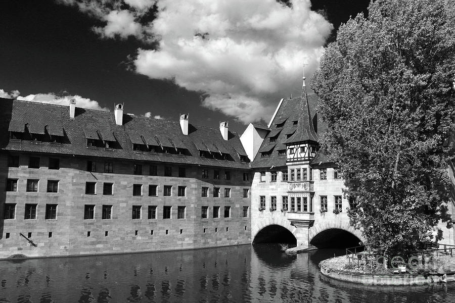 Almshouse Photograph - Old Architecture  Nuremberg by Christiane Schulze Art And Photography