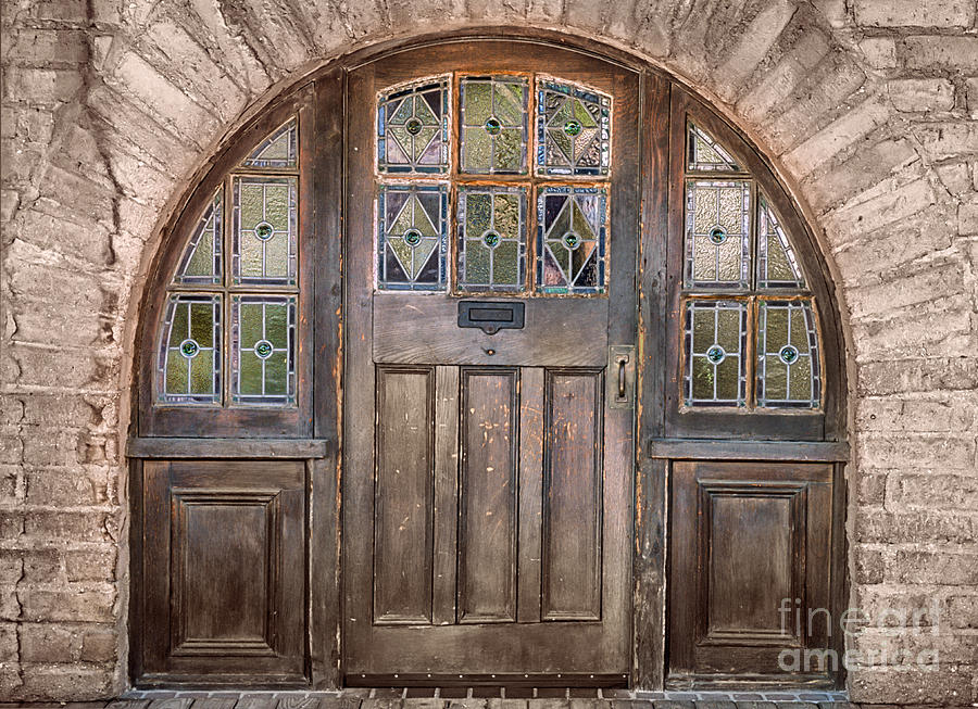 Southwest Photograph - Old Archway And Door by Sandra Bronstein