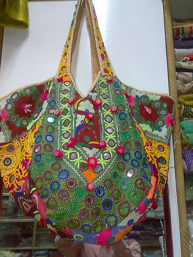 Dress Bag Tapestry - Textile - Old Bag by Dinesh Rathi