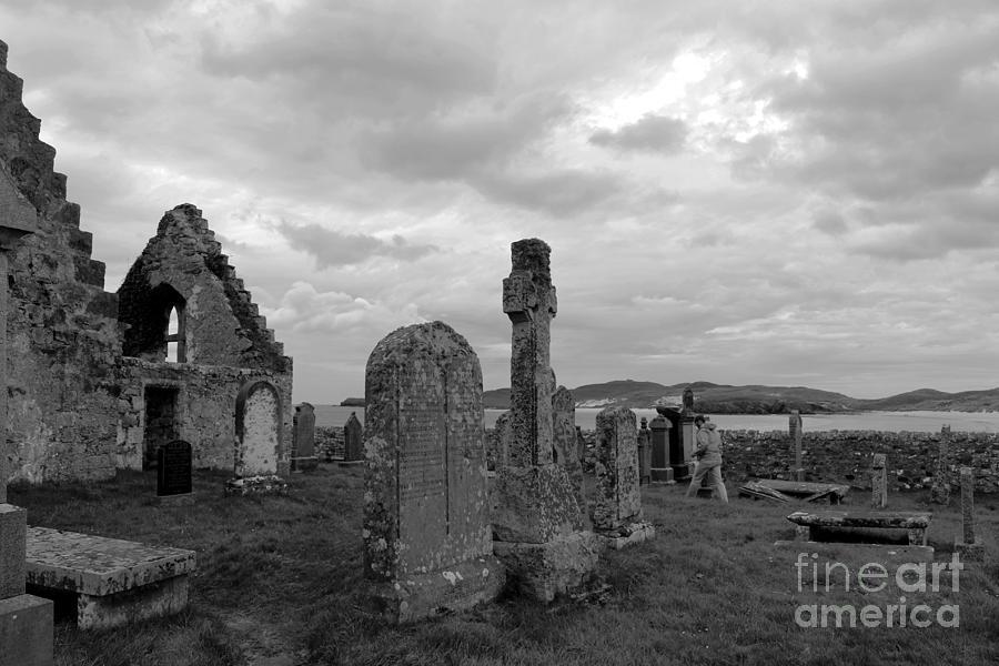 Landscape Photograph - Old Balnakeil Church by Maria Pogoda