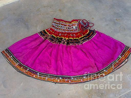Old Skirt Tapestry - Textile - Old Banjara Tribal Skirt by Dinesh Rathi