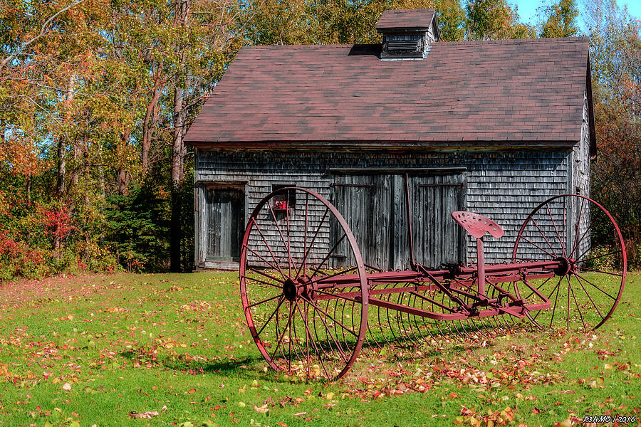 Agriculture Photograph - Old Barn And Rusty Farm Implement 02 by Ken Morris