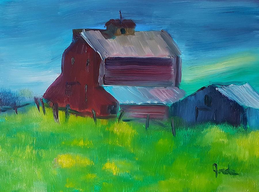 Landscape Painting - Old Barn And Shed  by Steve Jorde