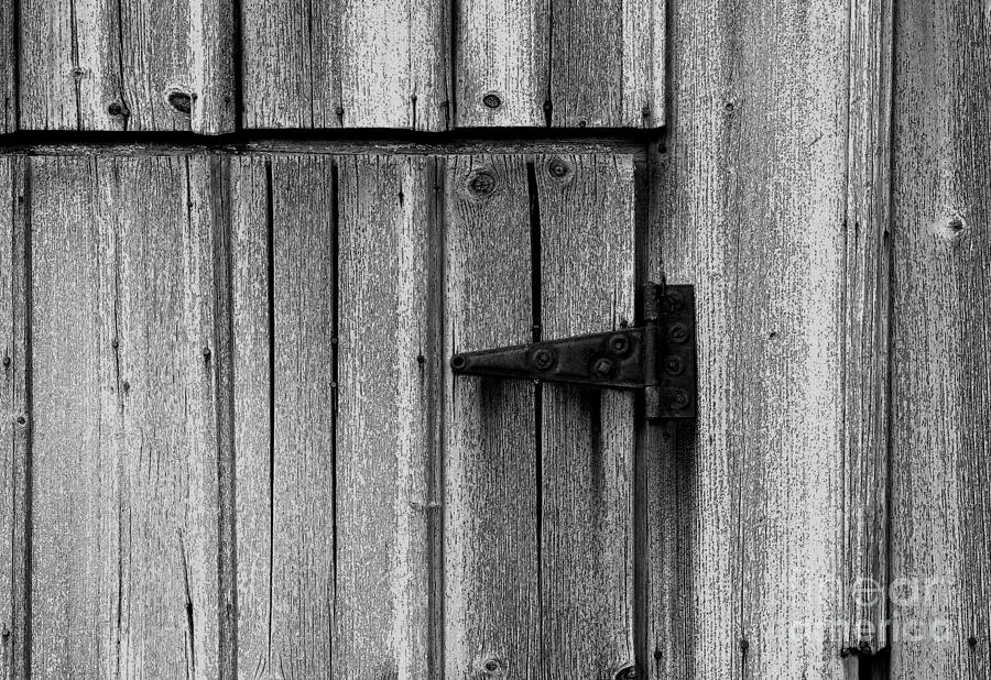 Old Photograph   Old Barn Door By Timothy Johnson