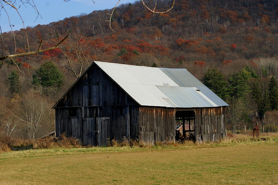 Barn Photograph - Old Barn In Fall by Lois Lepisto