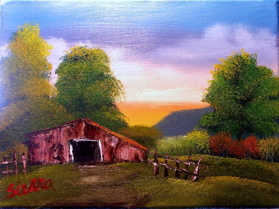 Barn Painting - Old Barn In The Meadow by Dina Sierra