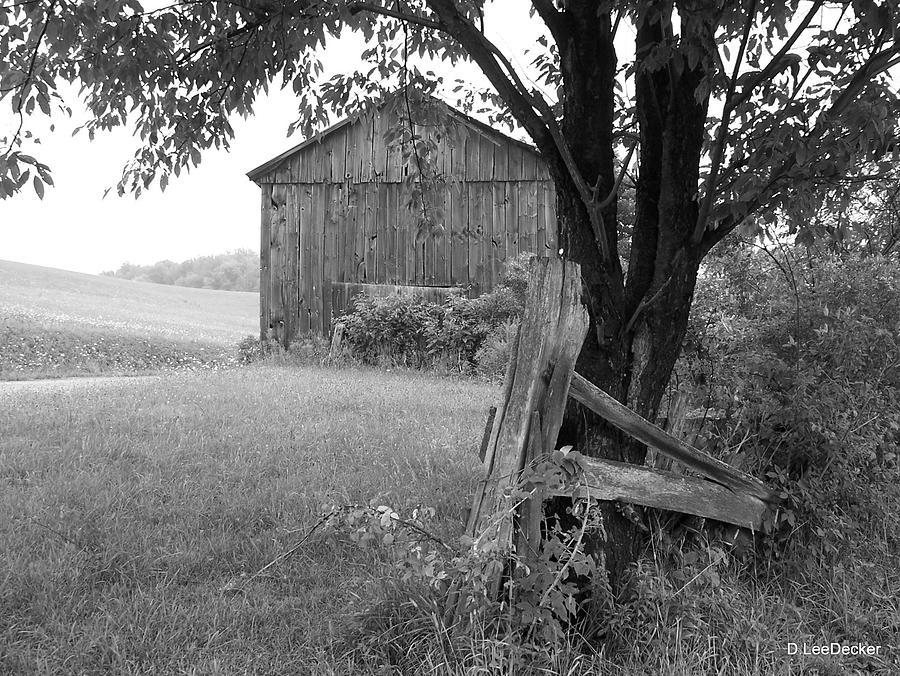 Old Barn Photograph - old barn Indiana county PA by Lee Decker
