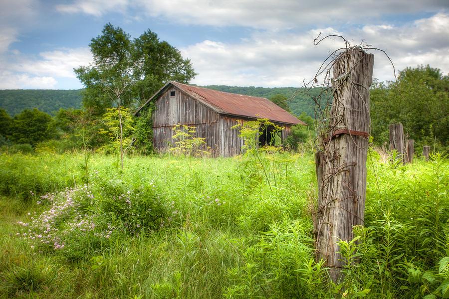 Barns Photograph - Old Barn Near Stryker Rd. Rustic Landscape by Gary Heller