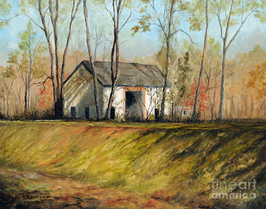 Barn Painting - Old Barn on the Canal by Cindy Roesinger