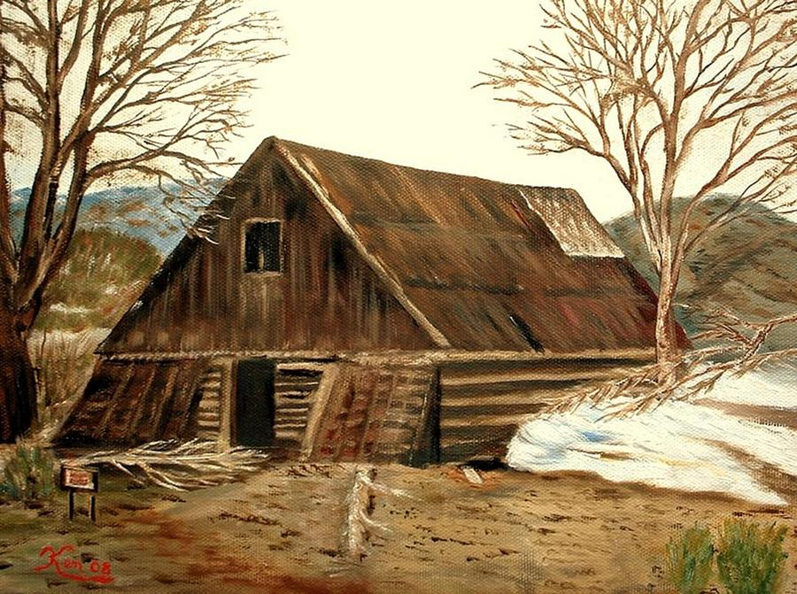 Old Barn series 1 Painting by Kenneth LePoidevin