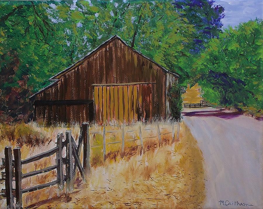 Old Barn Sonoma County Painting By Mike Caitham