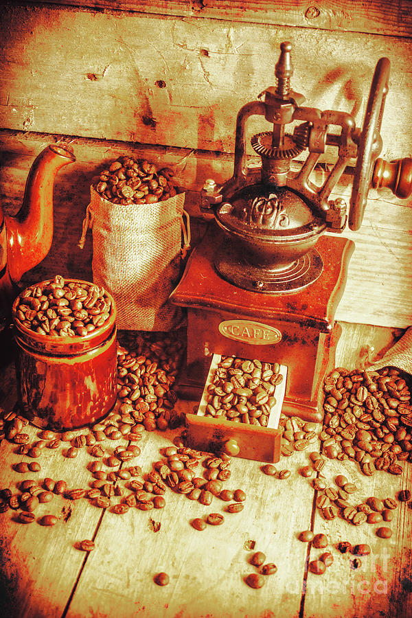 Restaurant Photograph - Old Bean Mill Decor. Kitchen Art by Jorgo Photography - Wall Art Gallery