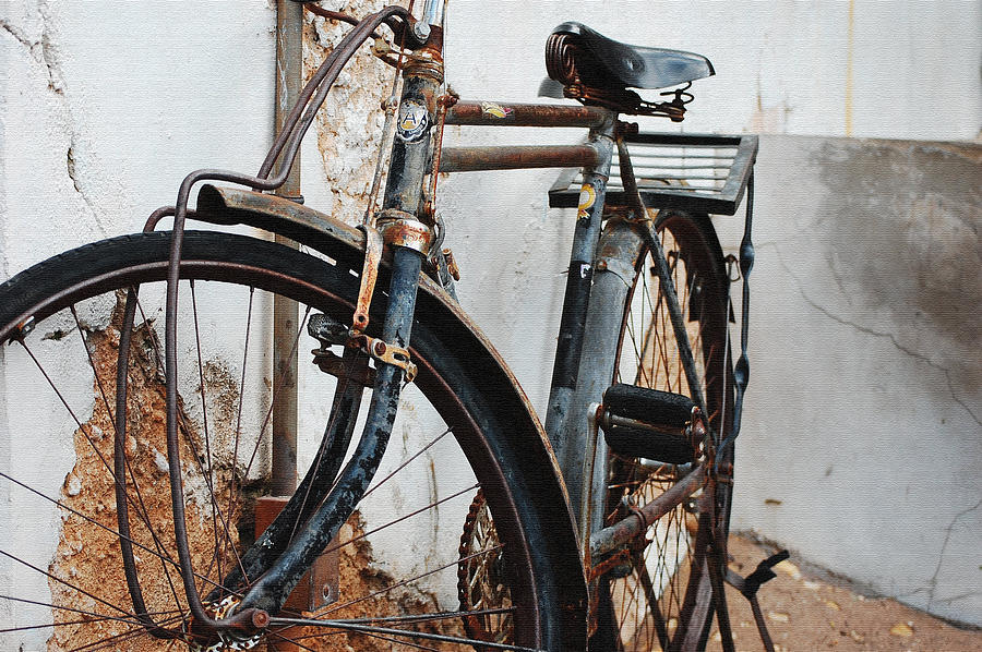 Bicycle Photograph - Old Bike II by Robert Meanor
