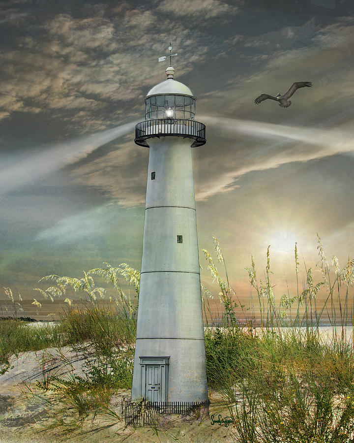 Old Biloxi Lighthouse by Sandra  Schiffner