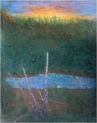Birch Tree Pastel - Old Birch by Brian Higgins