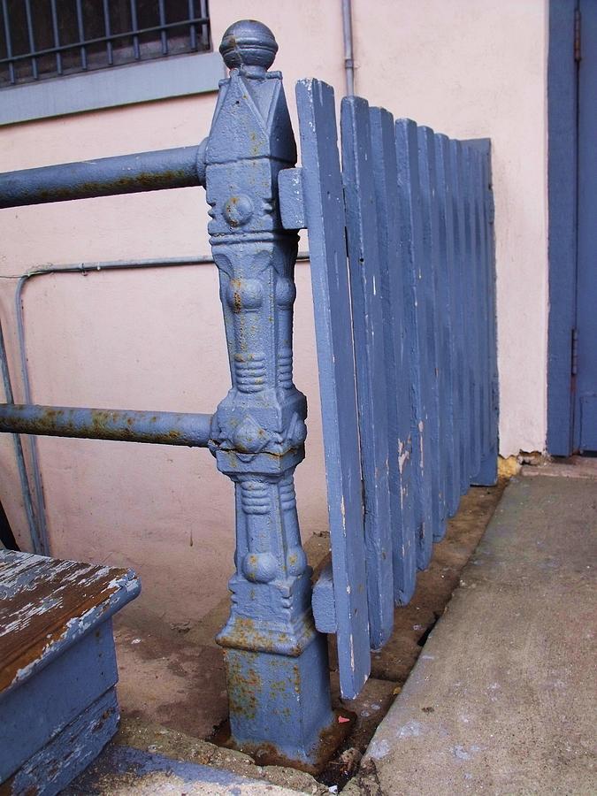 Vintage Photograph - Old Blue Gate by Anna Villarreal Garbis