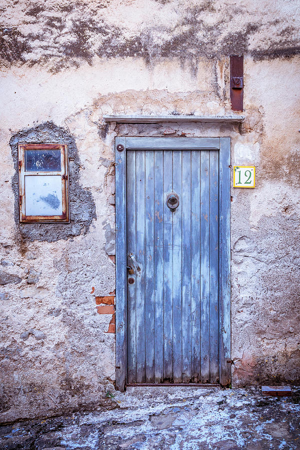 Old Blue Italian Door by Maria Heyens
