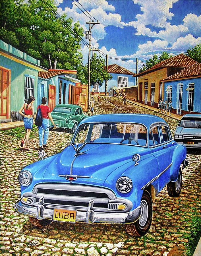Landscape Painting - Old Blue by Jose Renan Herrera