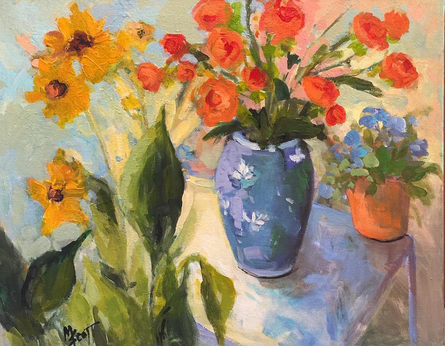 Old Blue Vase by Mary Scott