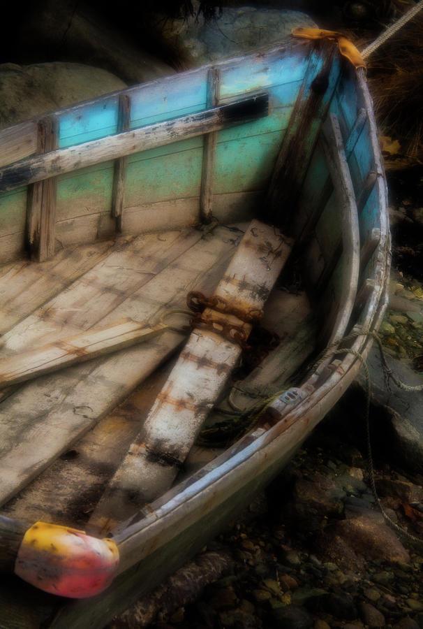 Vacationland Photograph - Old Boat 2 Stonington Maine by David Smith