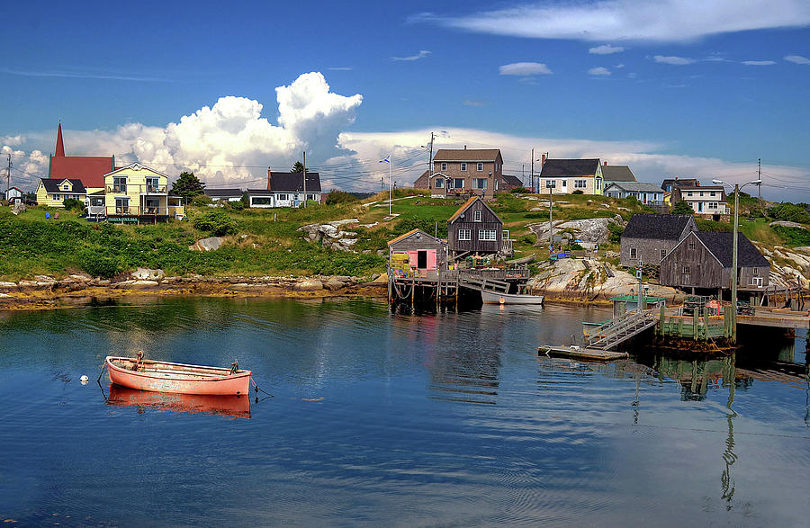 Old Boat At Peggy's Cove by Rodney Campbell