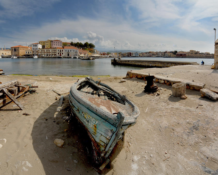 Boat Photograph - Old Boat In Crete by Robert Lacy