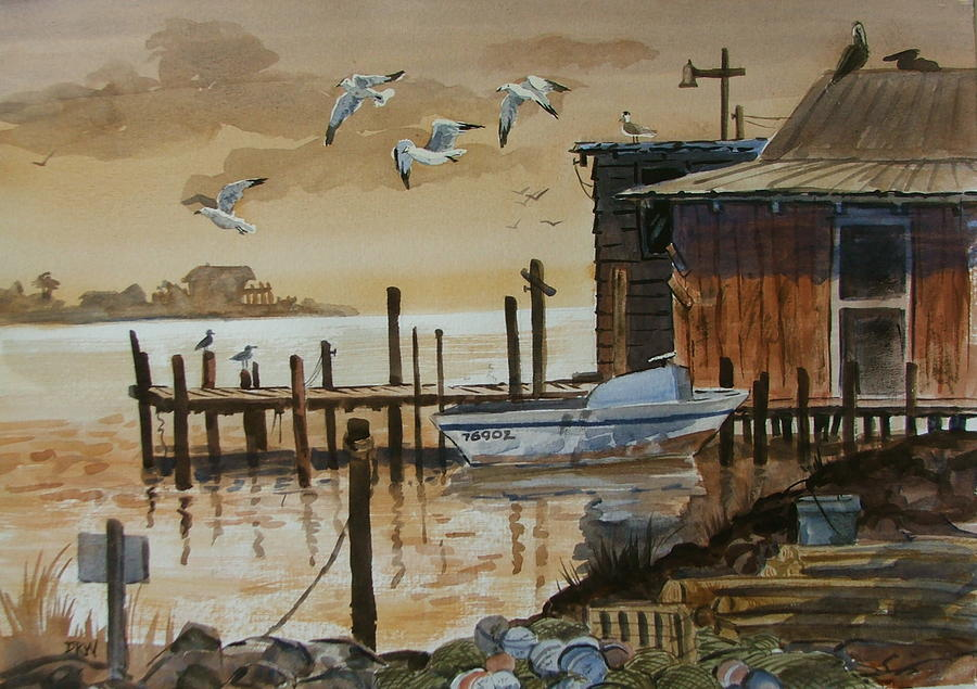 Boathouse Painting - Old Boathouse by Dianna Willman