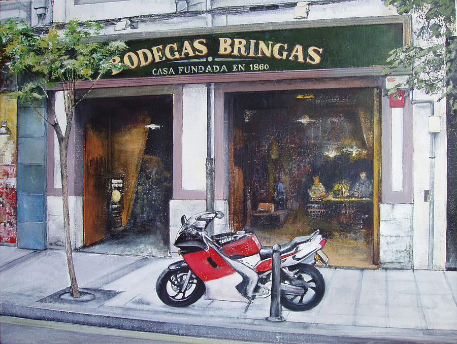 Old Tavern Painting - Old bodegas Bringas by Tomas Castano