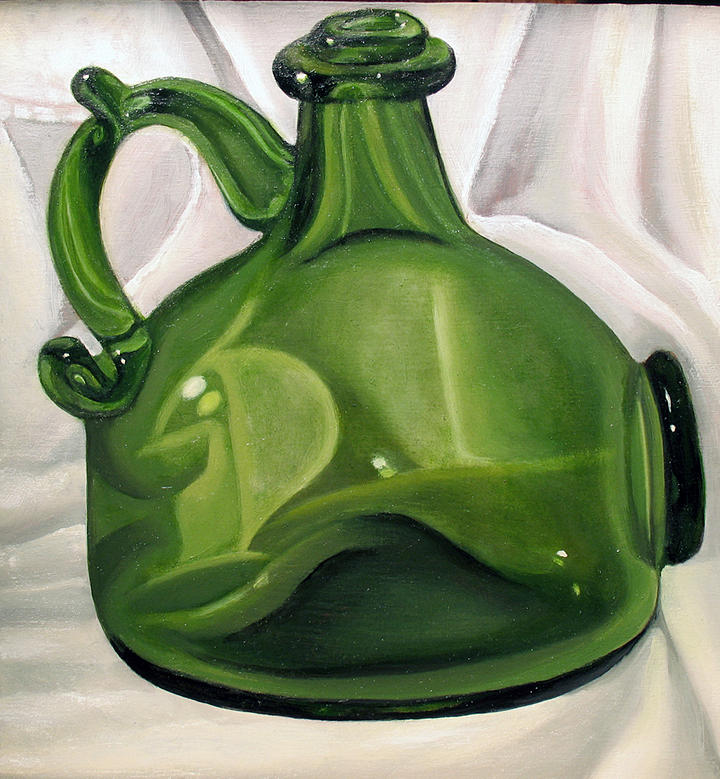 Old Bottle Painting by Kristine Mobley