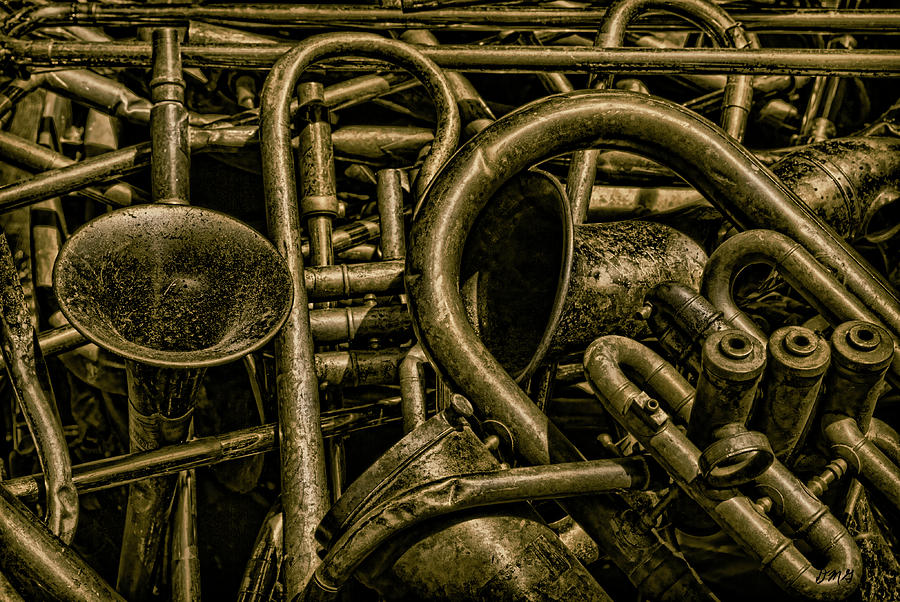 Old Brass Musical Instruments by Dave Gordon