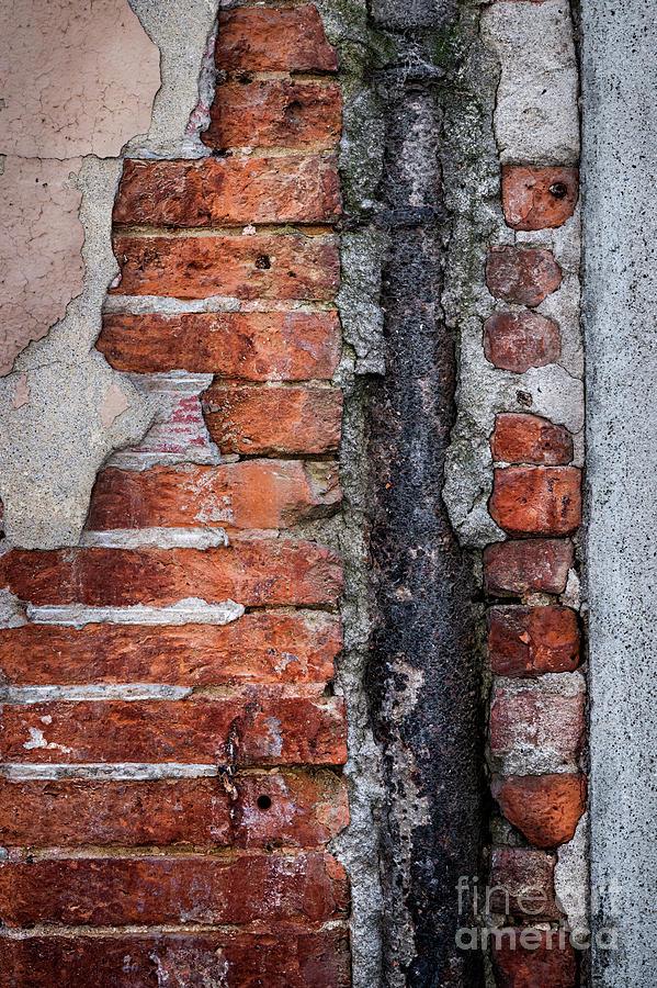 Wall Photograph - Old Brick Wall Fragment by Elena Elisseeva
