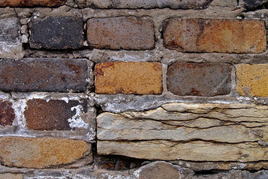Bricks Photograph - Old Bricks by Photography by Tiwago