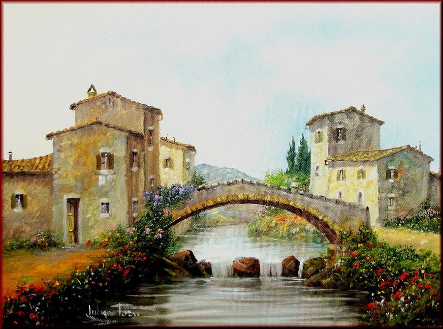 Quadri Painting - Old Bridge In Tuscany by Luciano Torsi