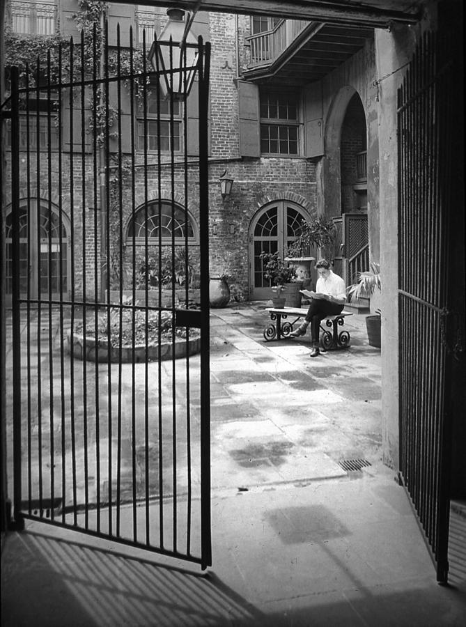 French Quarter Photograph - Old Brulatour Patio by Crescent City Collective