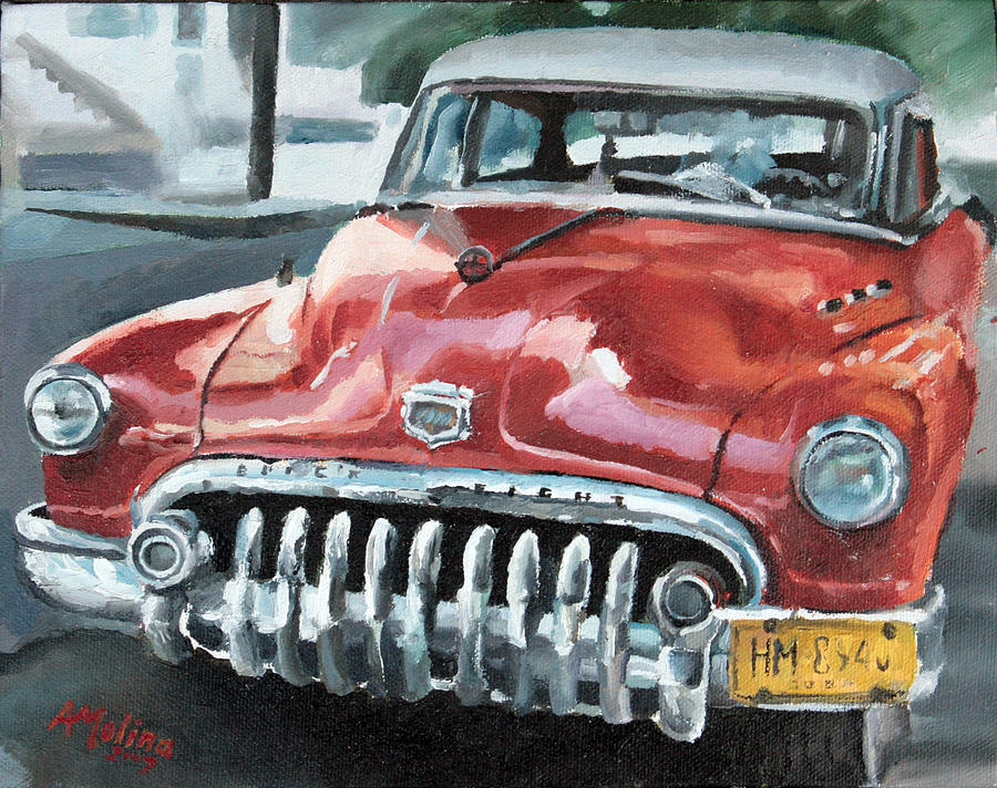 Antique Car Painting - Old Buick by Antonio Molina