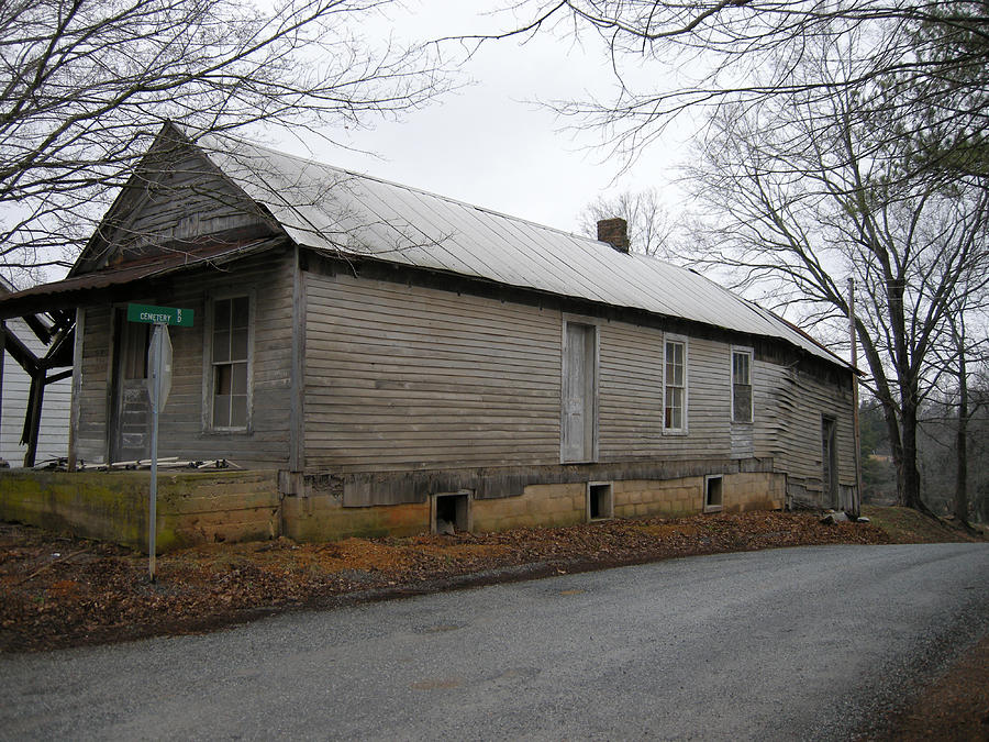 Buildings Photograph - Old Building On Cemetery Road by Ivan Rijhoff
