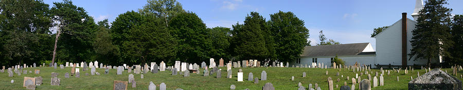 Grave Yard Photograph - Old Burial Ground by Sam Smyth