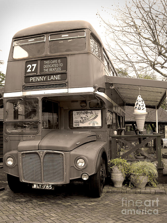 The Beatles Photograph - Old Bus Cafe by Eena Bo