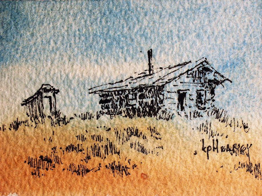 Cabin Mixed Media - Old Cabin by Kevin Heaney