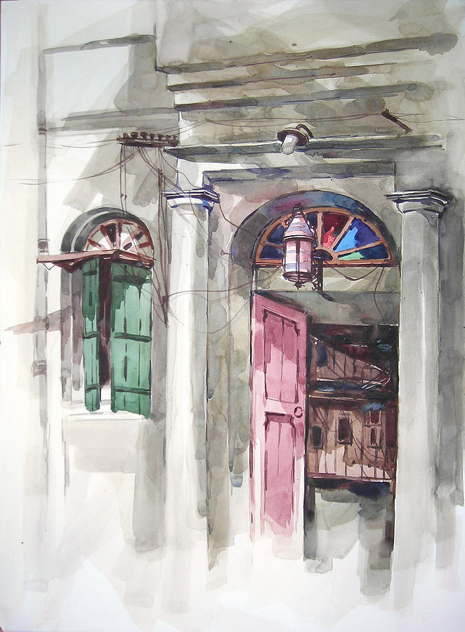 Old Calcutta 1 Painting by Alaykumar Ghoshal