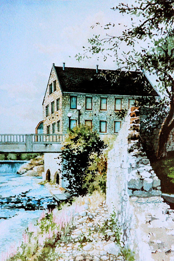 Old Mill Painting - Old Cambridge Mill by Hanne Lore Koehler