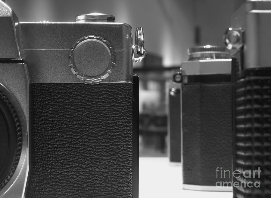 Slr Photograph - Old Camera Line-up by Yali Shi