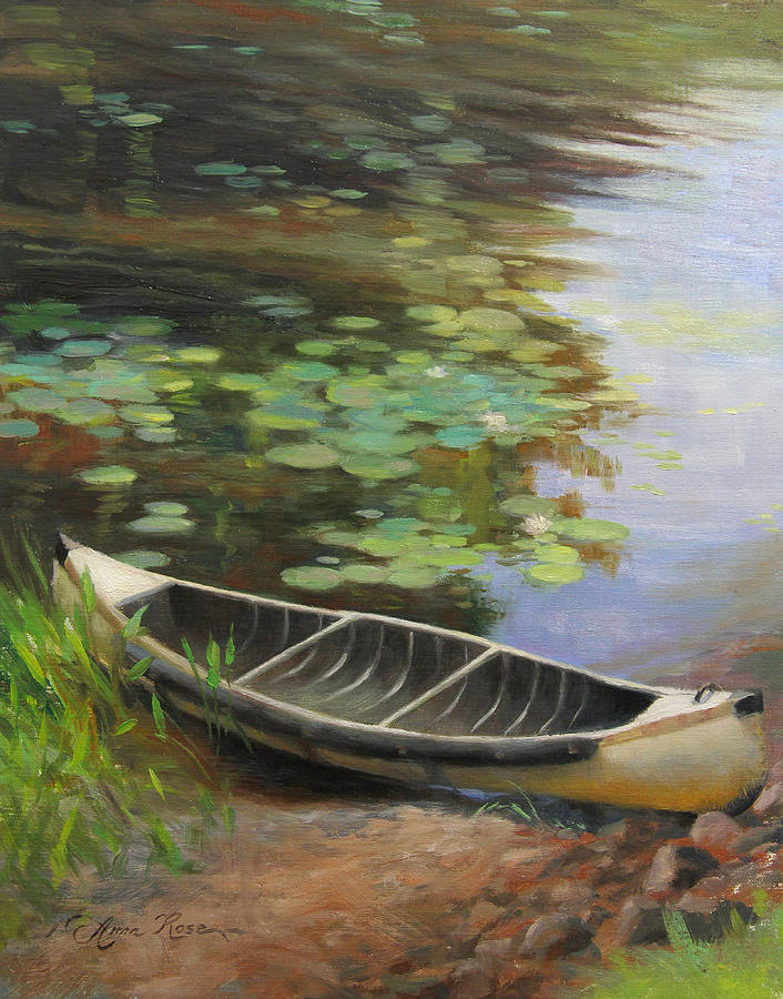 Canoe Painting - Old Canoe by Anna Rose Bain