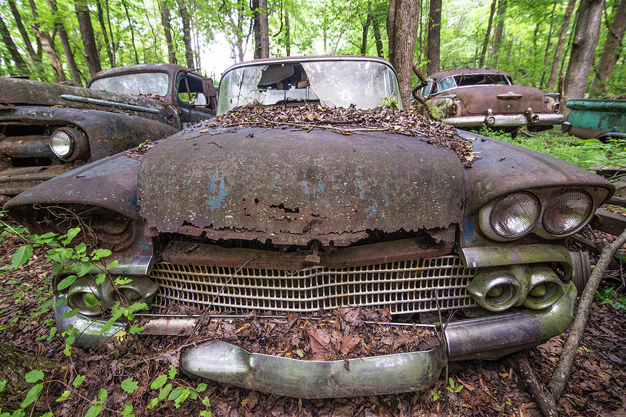 Abandoned Photograph - Old Car City in Color by Lindy Grasser