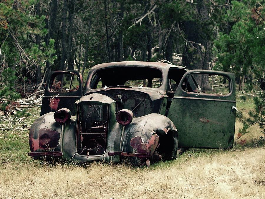 Car Photograph - Old Car by Leslie Brashear