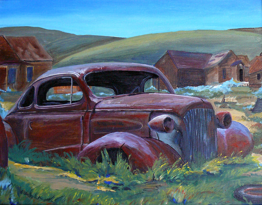 Landscape Painting - Old Car by Seth Johnson