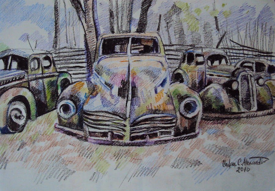 Old Cars Drawing by Chifan Catalin  Alexandru